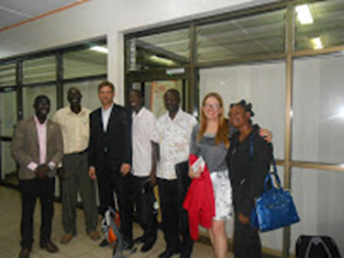 German Consultant Karin Stumpf visits the Uganda600 team in Kampala